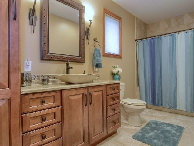Interior Bathroom of custom home.