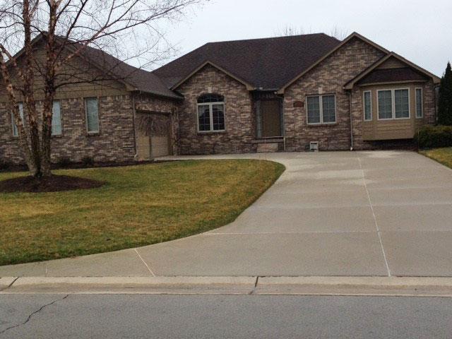 Custom home driveway