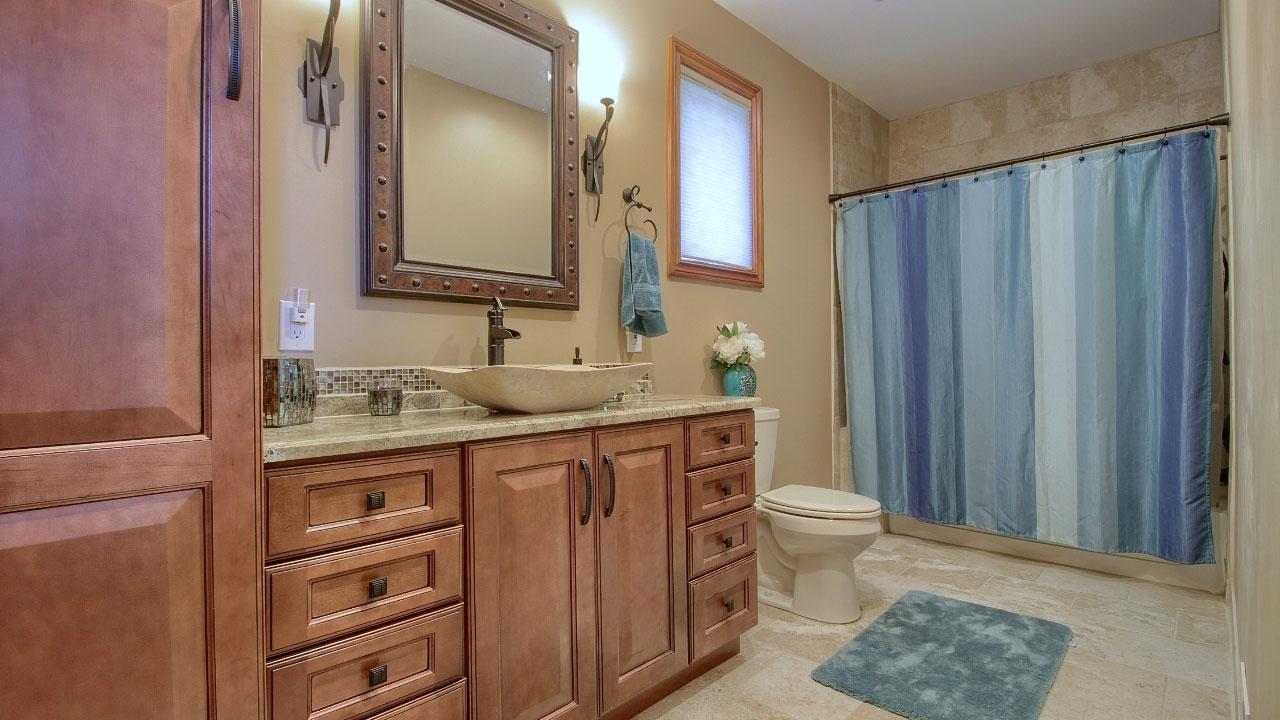 Interior Bathroom of custom home.