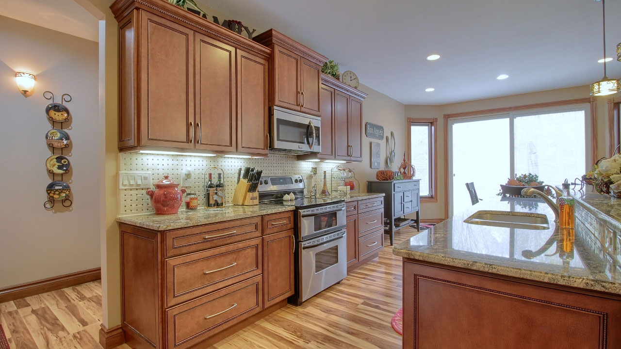 View of kitchen counter top