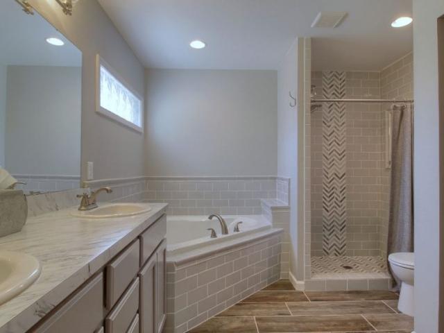 Custom master bathroom.